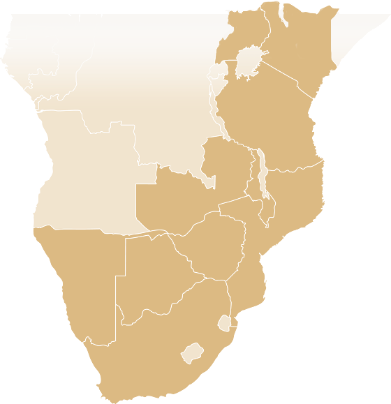 Overland Africa Destinations Map